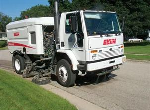 Image of a sweeper truck